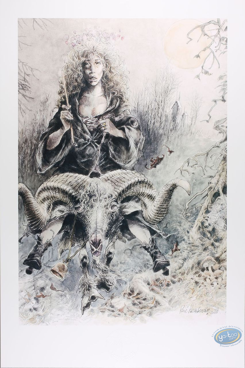 Offset Print, Witch Goat