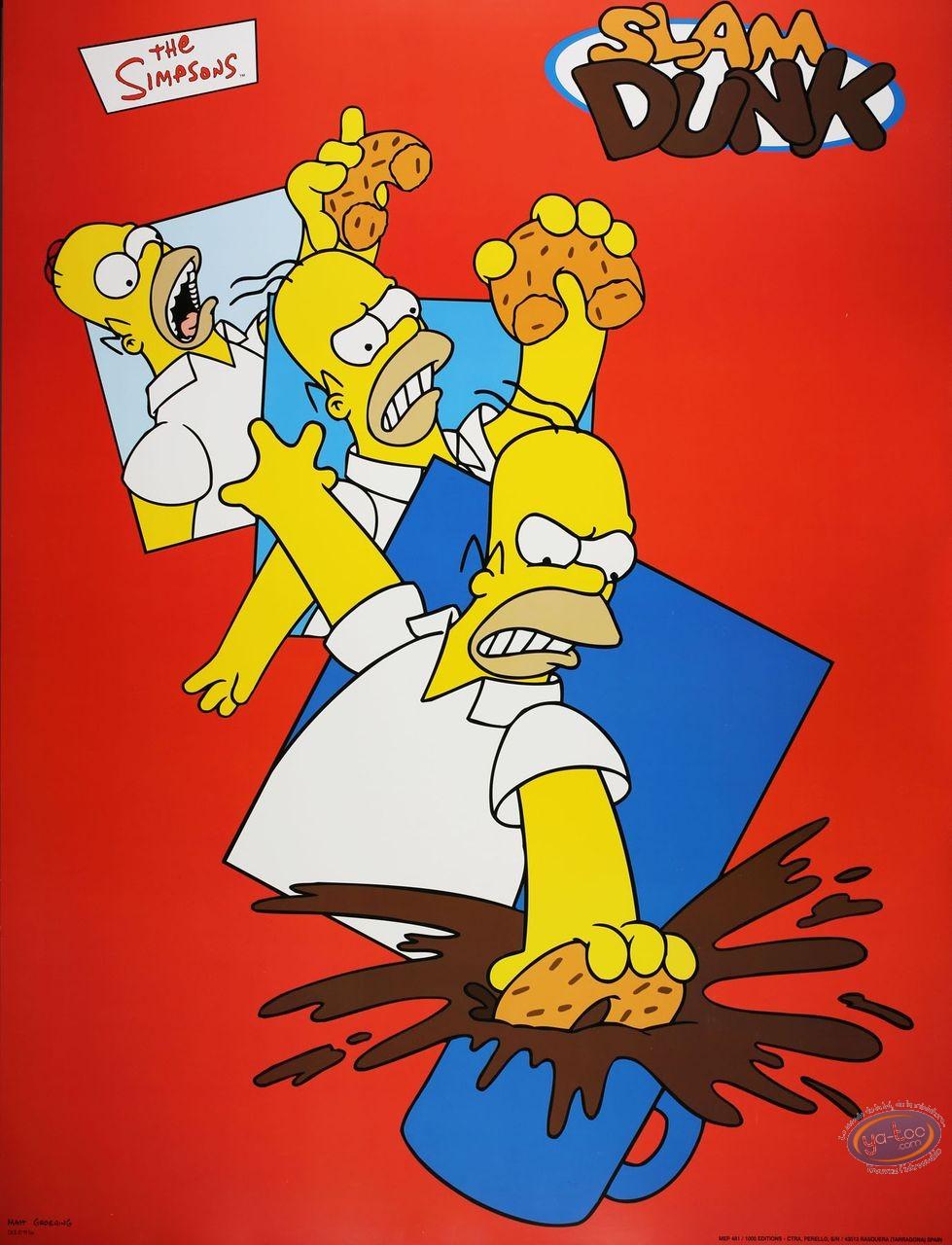 Offset Print, Simpson (Les) : Slam Dunk80X60 cm