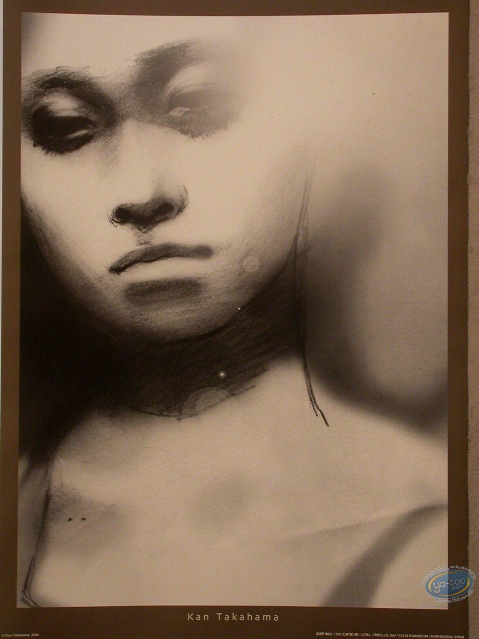 Offset Print, Woman's face