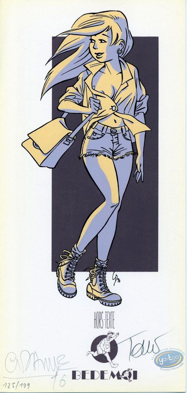 Bookplate Serigraph, Gang Mazda (Le) : Girl