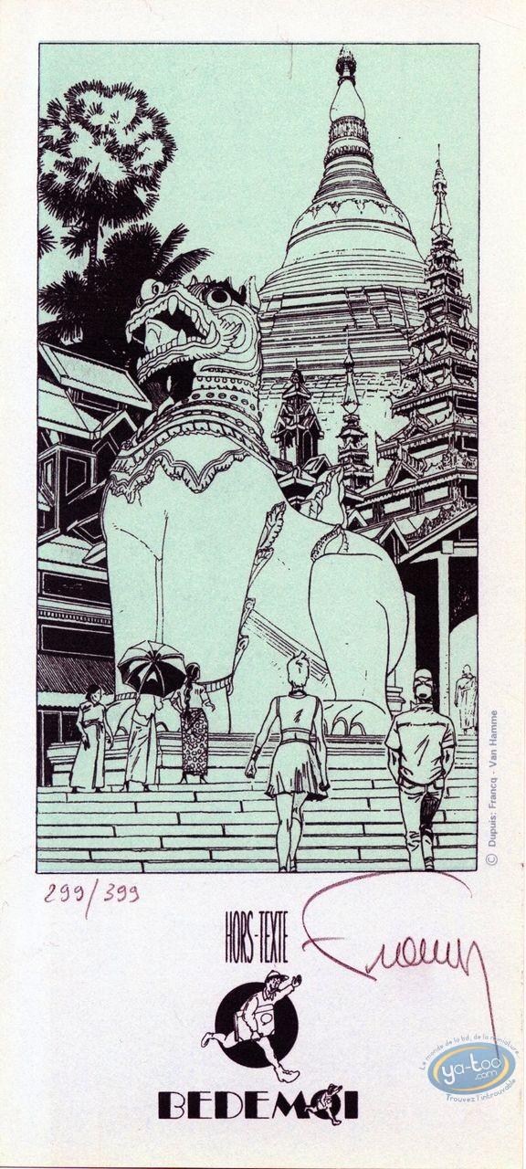 Bookplate Serigraph, Largo Winch : The Temple