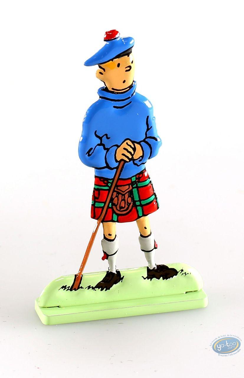 Metal Figurine, Tintin : L'île noire (bas relief)