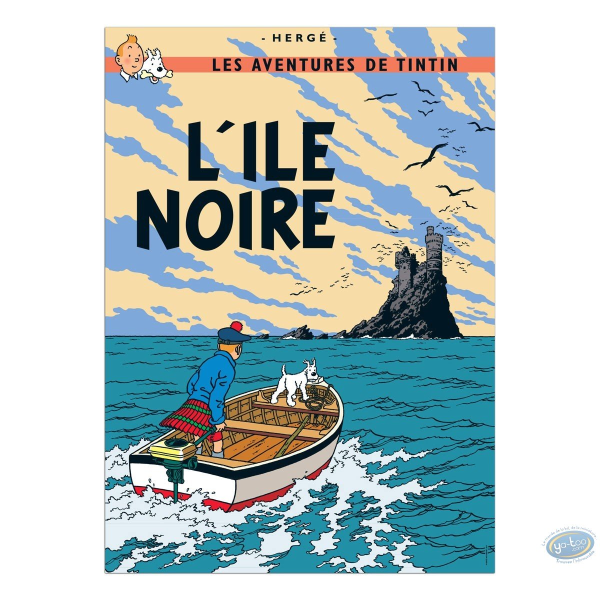 Offset Print, Tintin : The Black Island