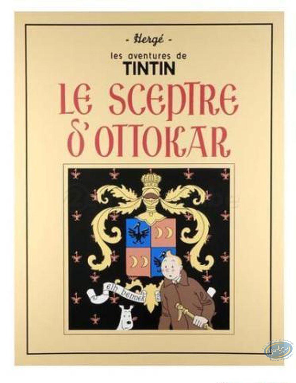 Serigraph Print, Tintin : King Ottokar's Sceptre