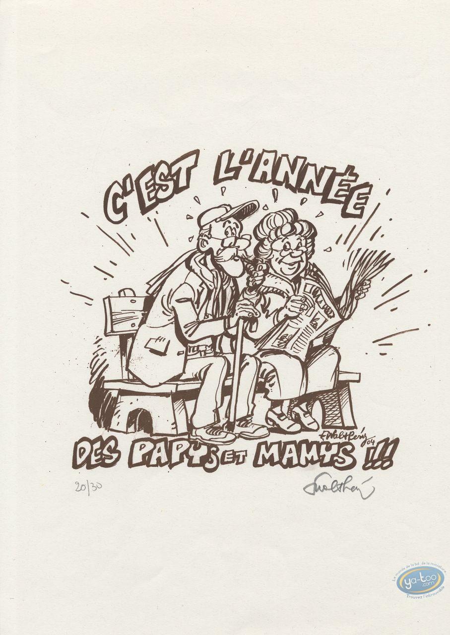 Serigraph Print, C'est l'annee
