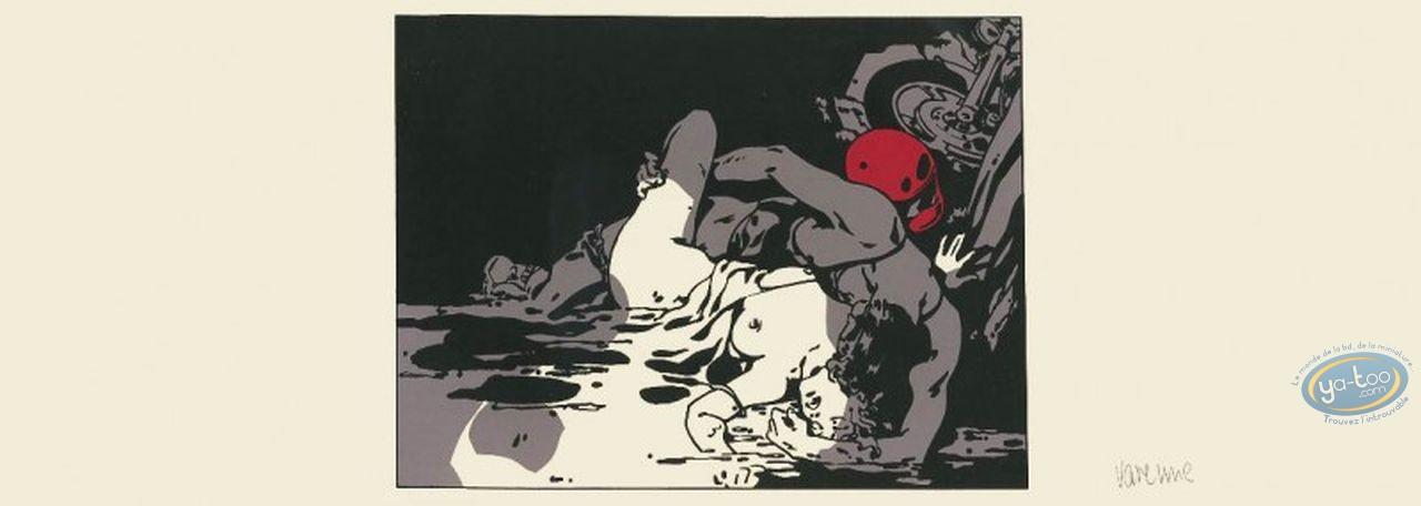 Serigraph Print, Varenne : Couple et moto