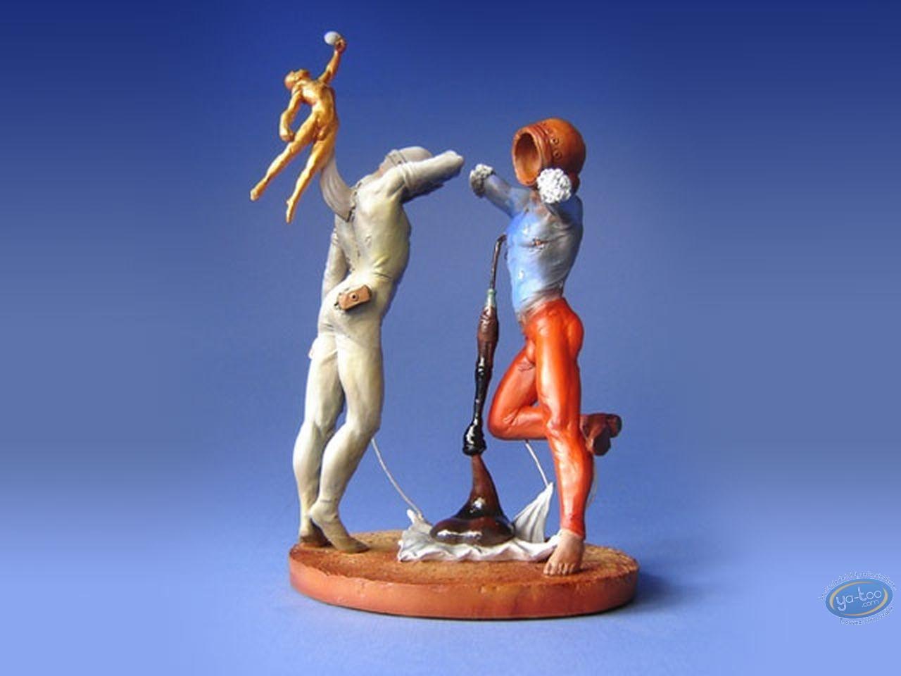 Resin Statuette, Tableaux en 3D : Salvador Dali - Poésie d'Amérique - Les Athlètes cosmiques