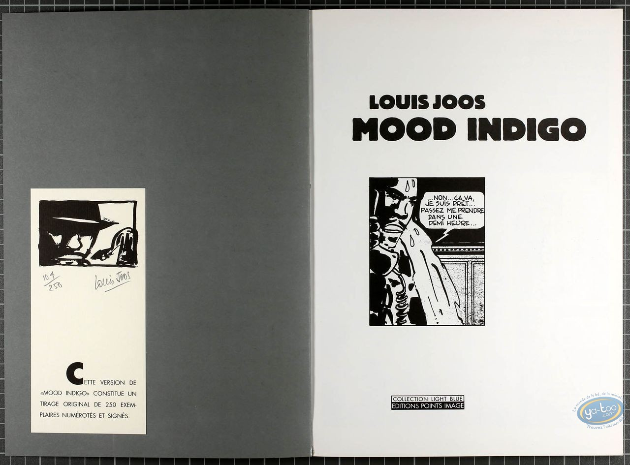 Listed European Comic Books, Mood Indigo : Mood Indigo