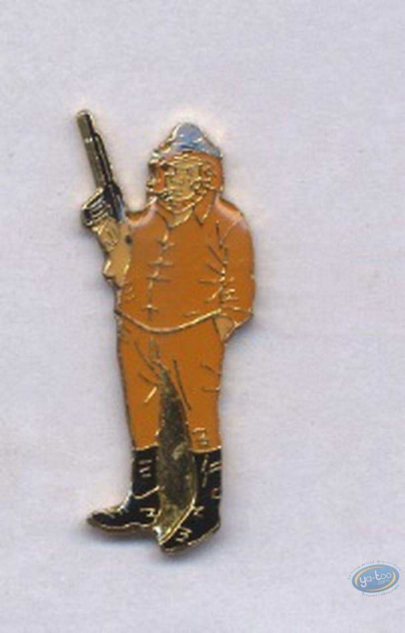 Pin's, Bernard Prince : Pin's, Barney Jordan with gun