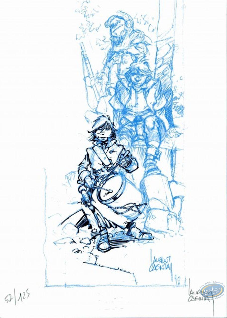 Bookplate Offset, Vauriens : Boy with a Drum
