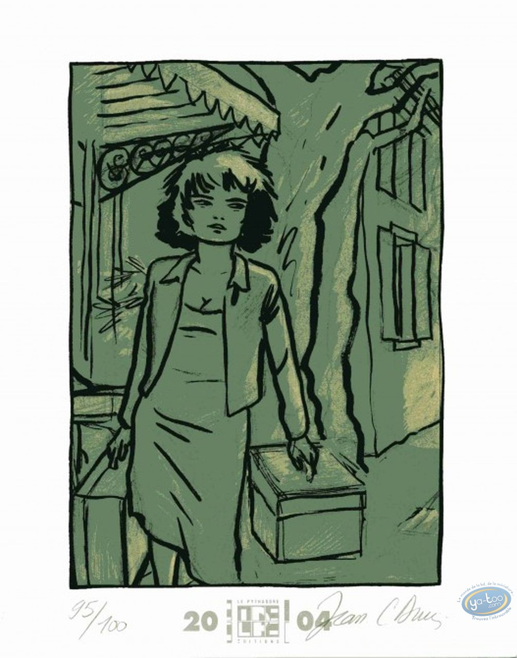 Bookplate Offset, Beauté à Domicile (La) : Woman with a suitcase