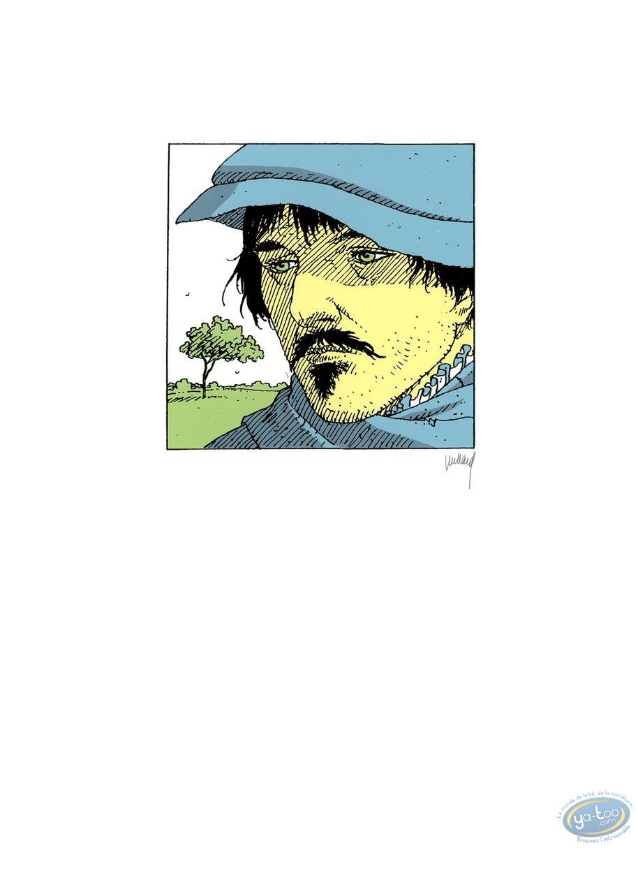 Serigraph Print, Quelque Chose de Bleu : Man with blue hat