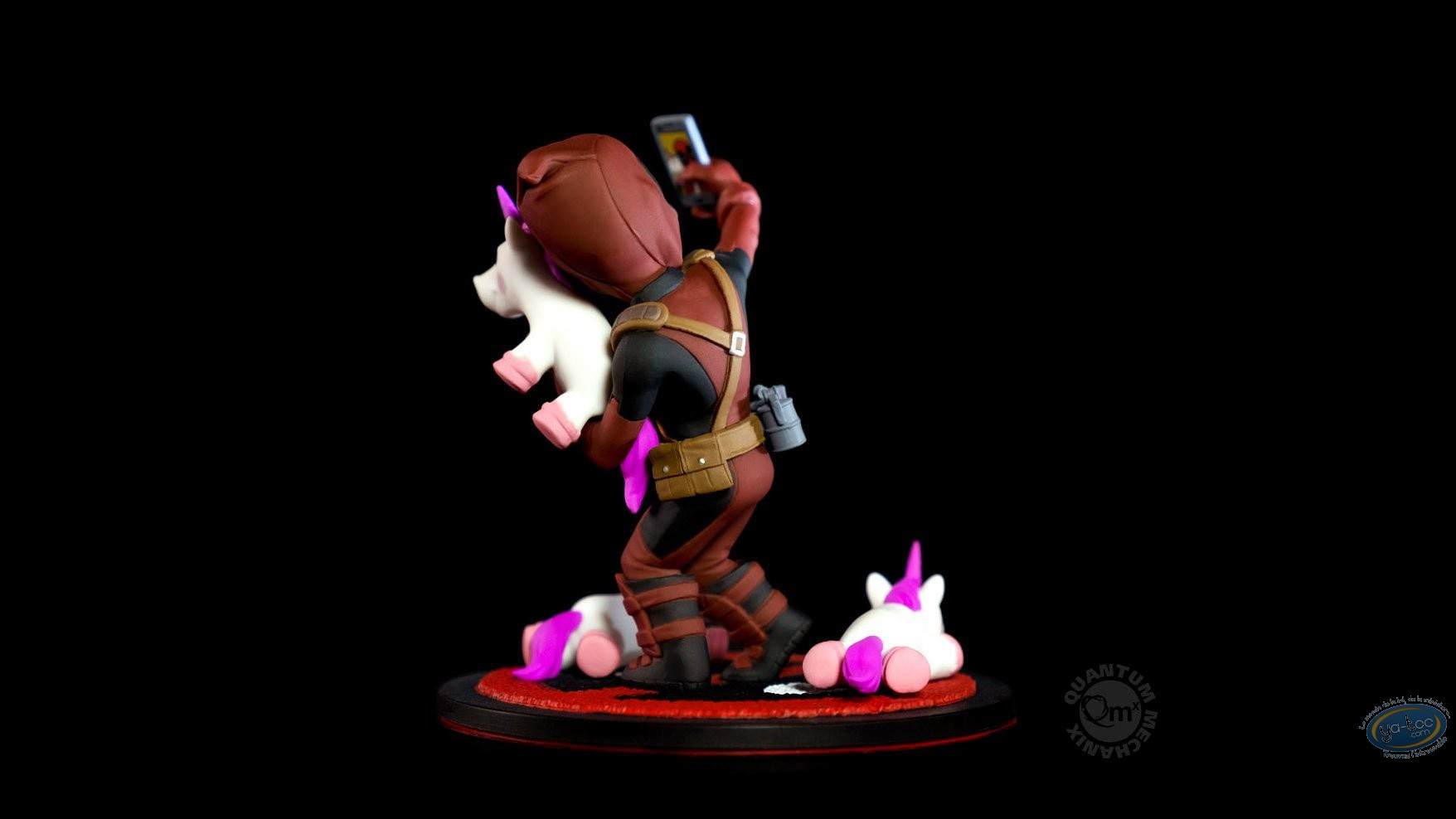 PVC Statuette, Deadpool : Marvel diorama Q-Fig Deadpool #unicornselfie 10 cm
