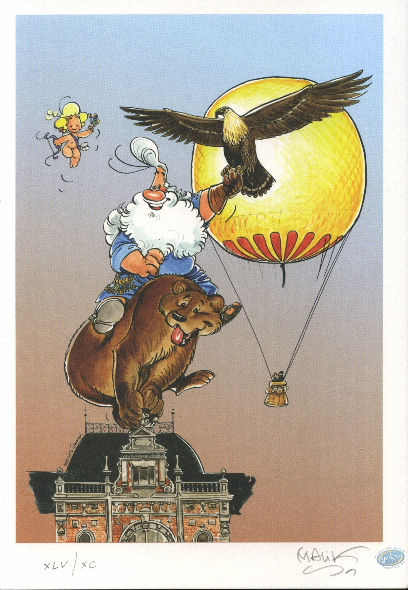 Bookplate Offset, Cupidon : Acrobats