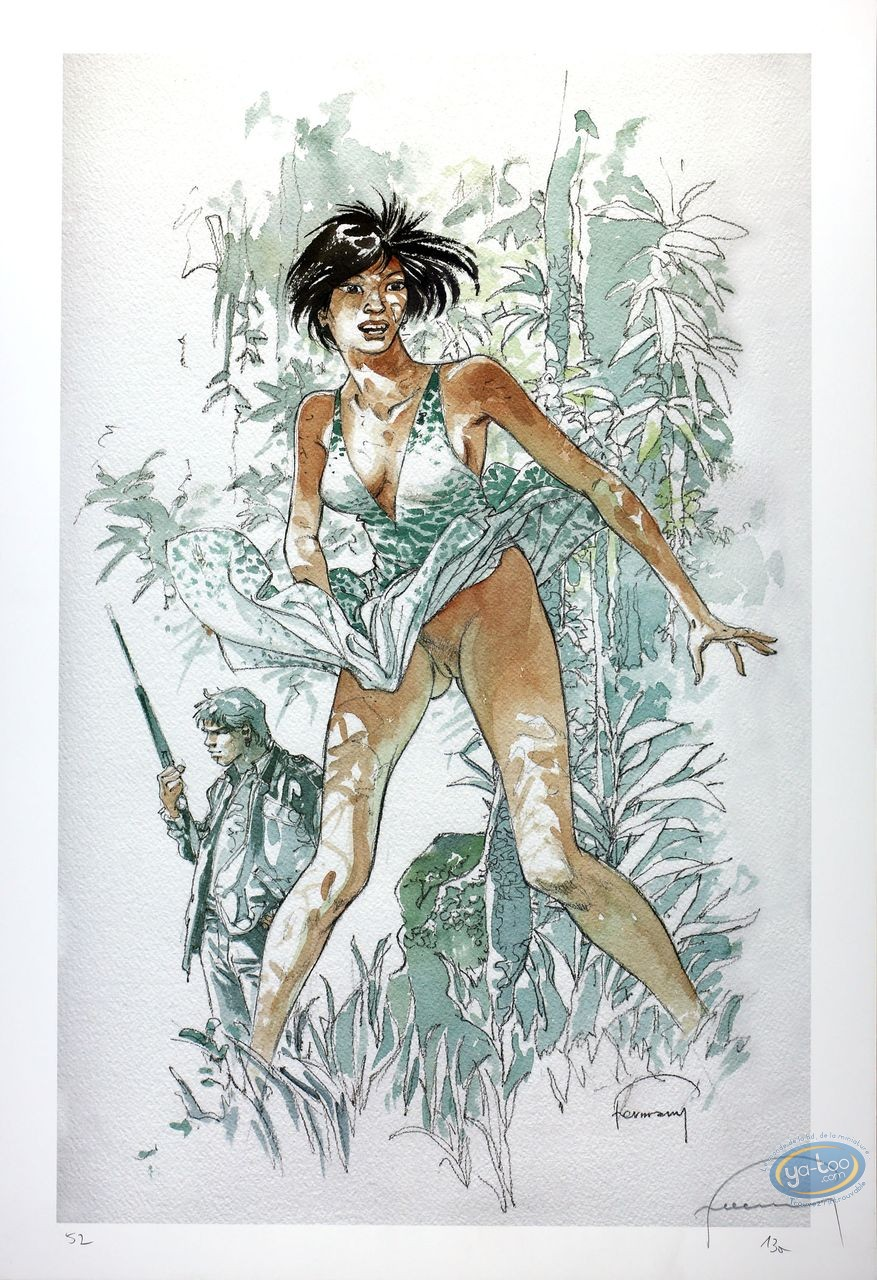 Offset Print, Woman in the Jungle
