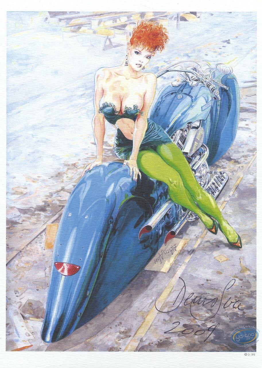 Bookplate Offset, Sire : Woman & bike