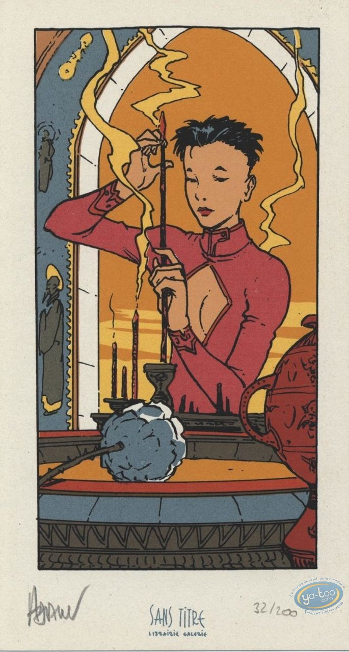 Bookplate Serigraph, Impératrice Rouge (L') : Incense