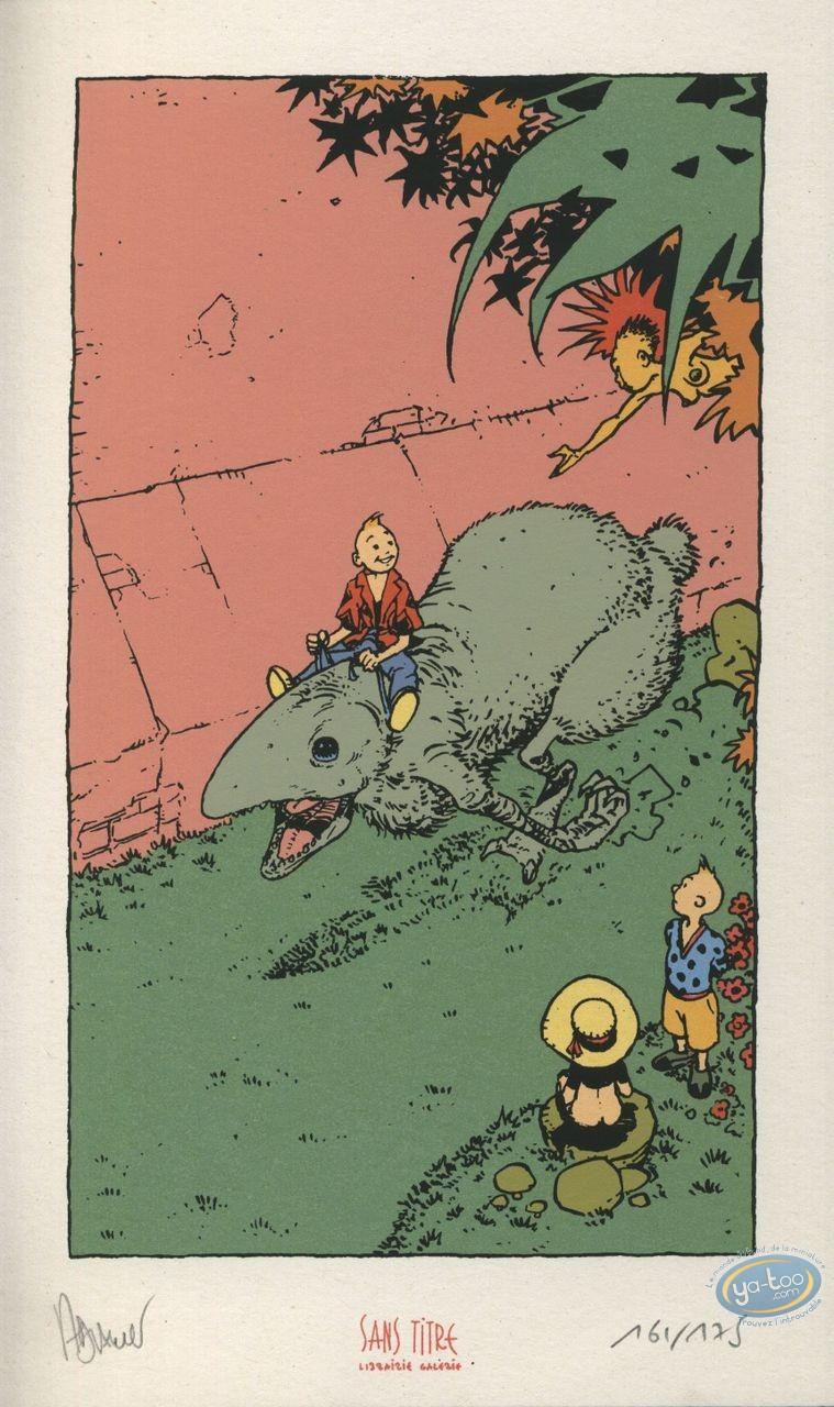 Bookplate Serigraph, Eaux de Mortelune (Les) : Giant rat