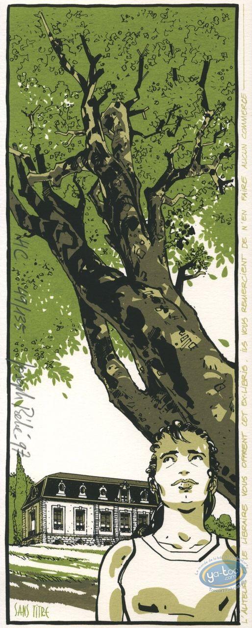 Bookplate Serigraph, Péché Mortel : Park