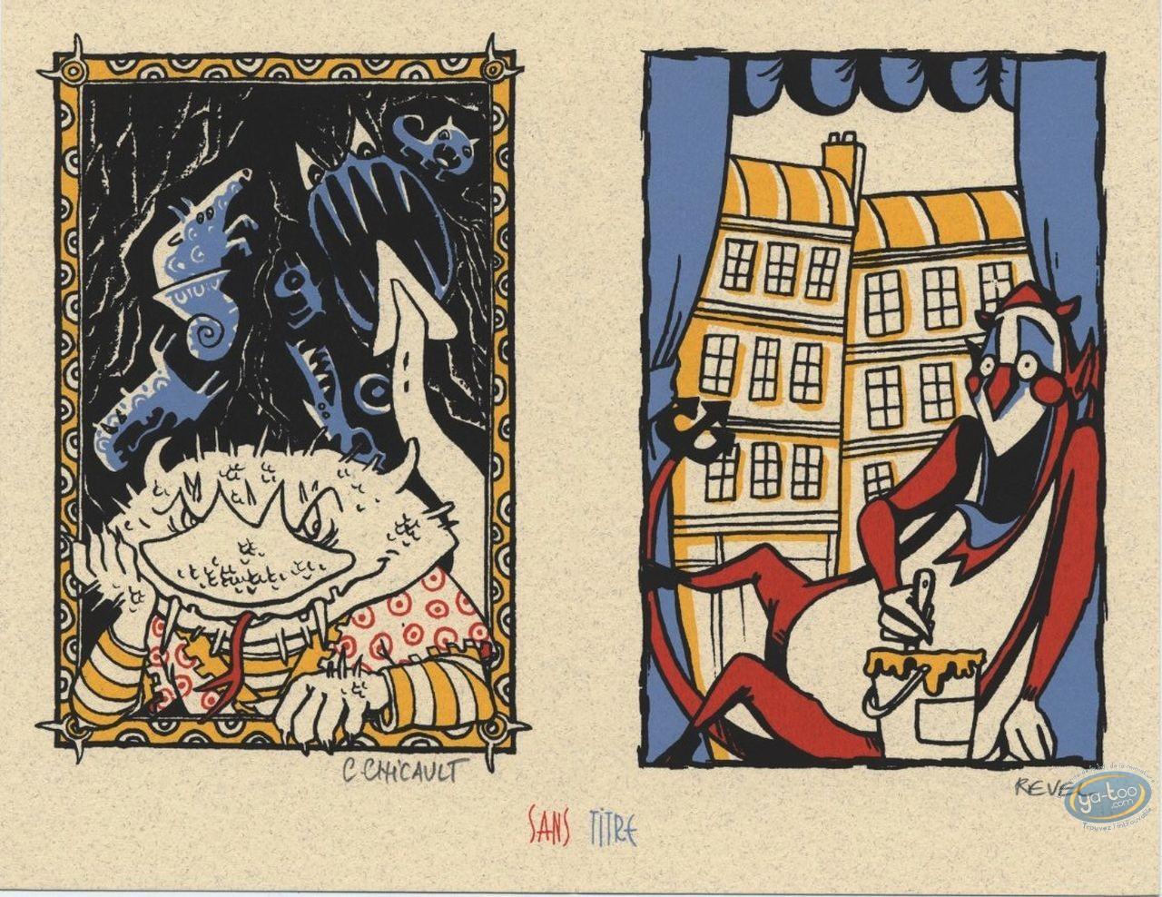 Bookplate Serigraph, Drôle d'Ange Gardien (Un) : Devils