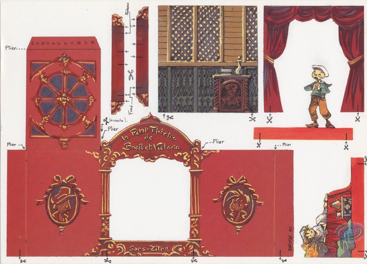 Bookplate Offset, Basil et Victoria : The little theatre