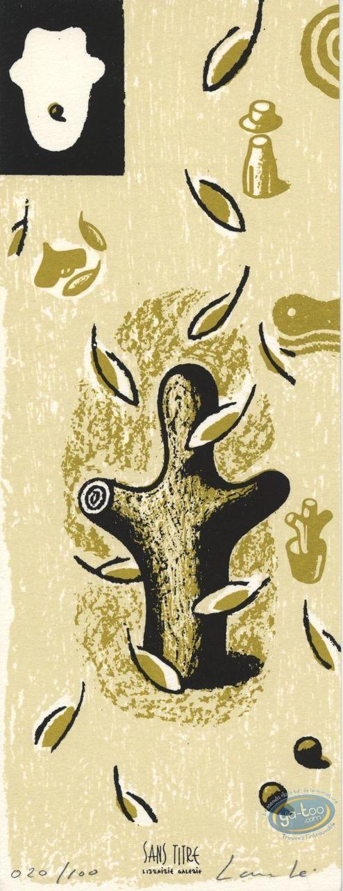 Bookplate Serigraph, Alberto G. : Tree