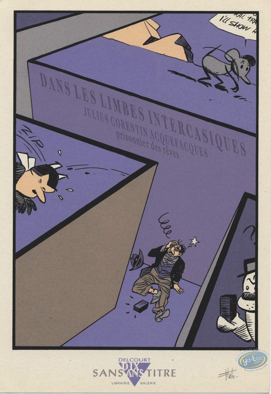 Bookplate Serigraph, Julius Corentin Acquefacques : Lebeault, Hommage à Julius Corentin Acquefacques