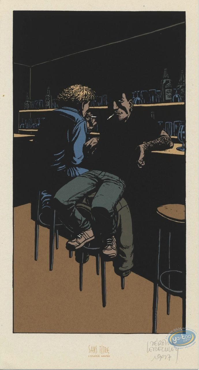 Bookplate Serigraph, Nuit Noire : At the Bar