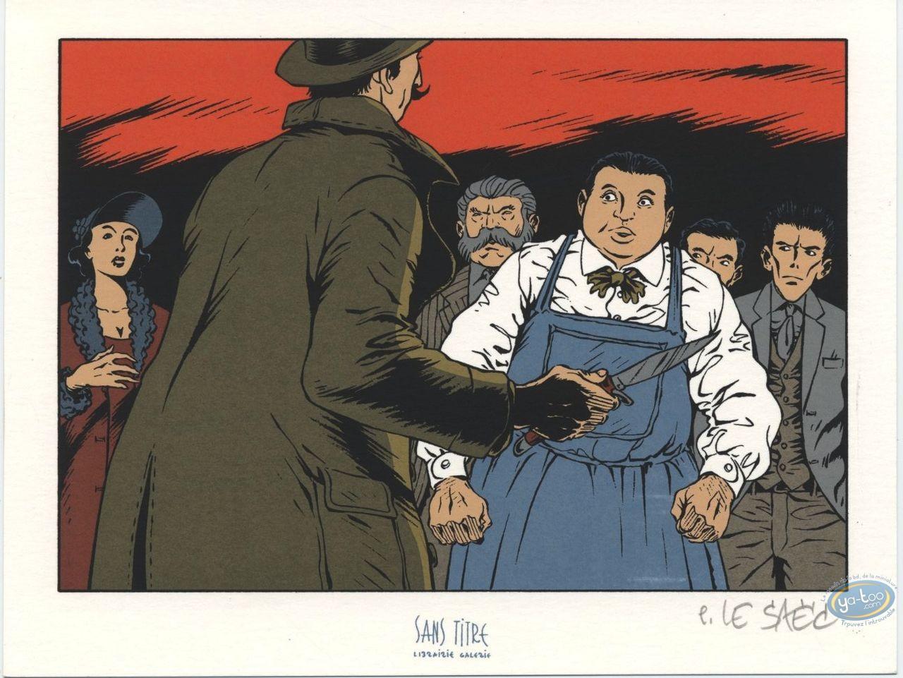 Bookplate Serigraph, Ce qui est à Nous : Fight