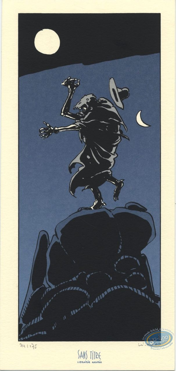 Bookplate Serigraph, Cycle de Tschai (Le) : The Night
