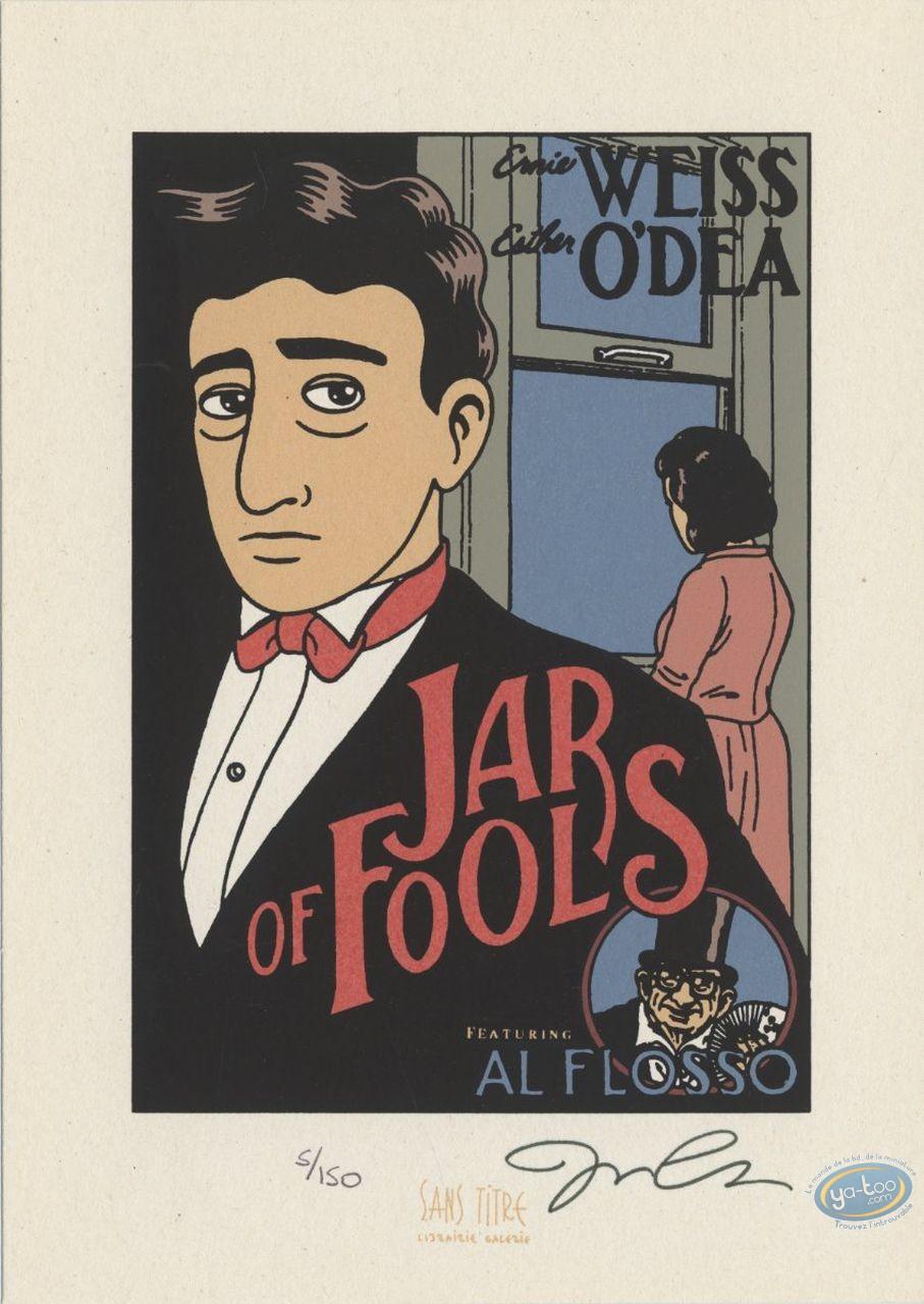 Bookplate Serigraph, Jar of Fools : Jason Lutes, Jar of Fools
