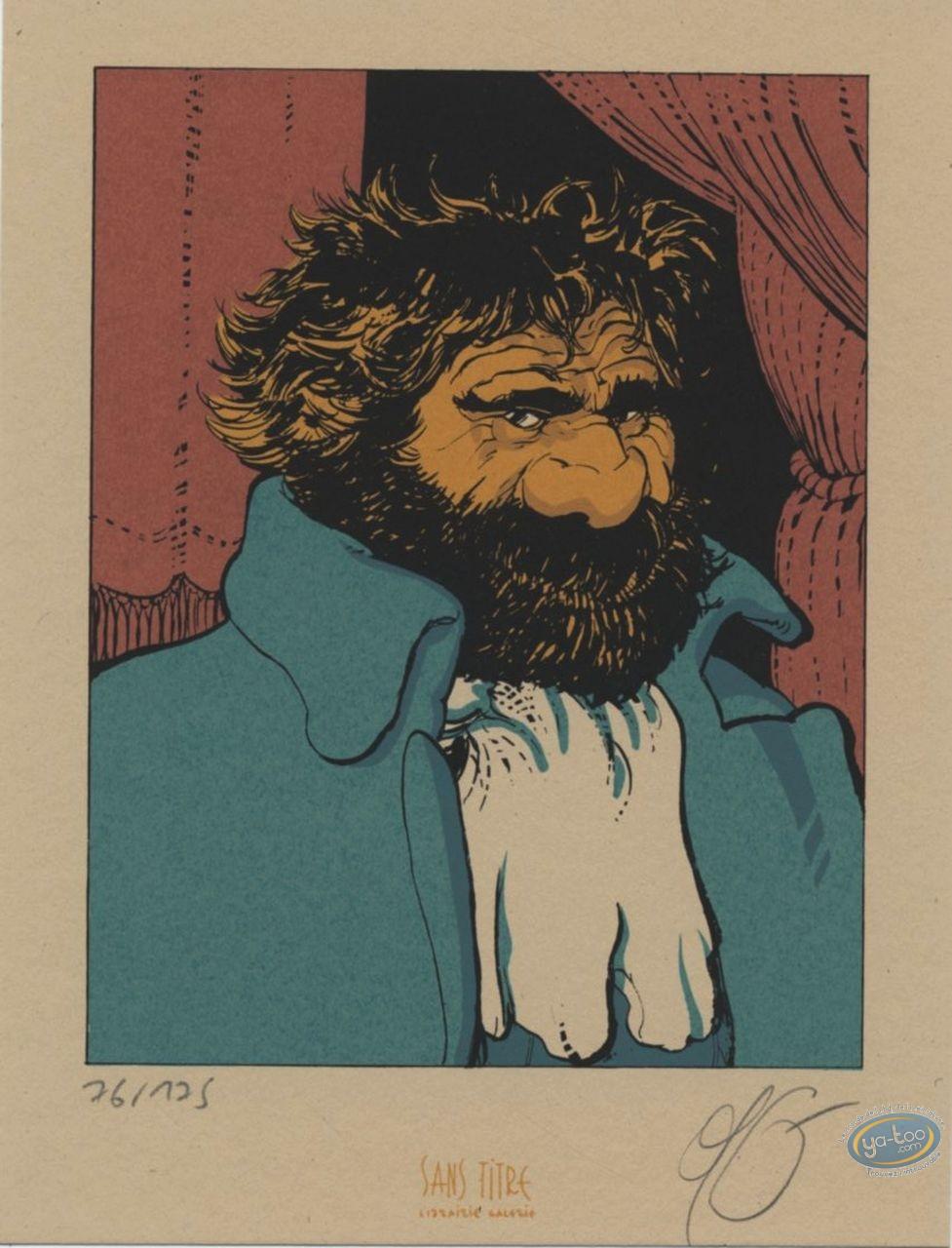 Bookplate Serigraph, Sang et Encre : Portrait