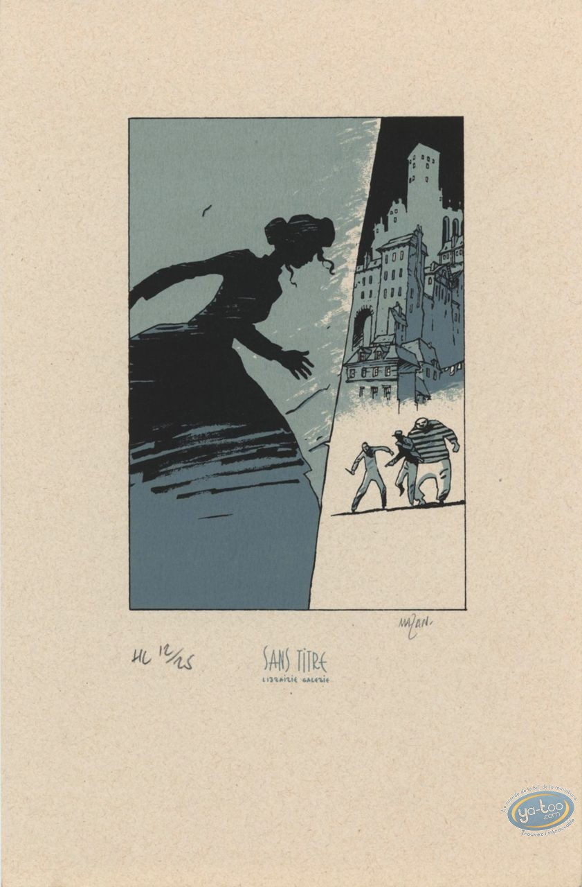 Bookplate Serigraph, Hiver d'un Monde (L') : Ville basse