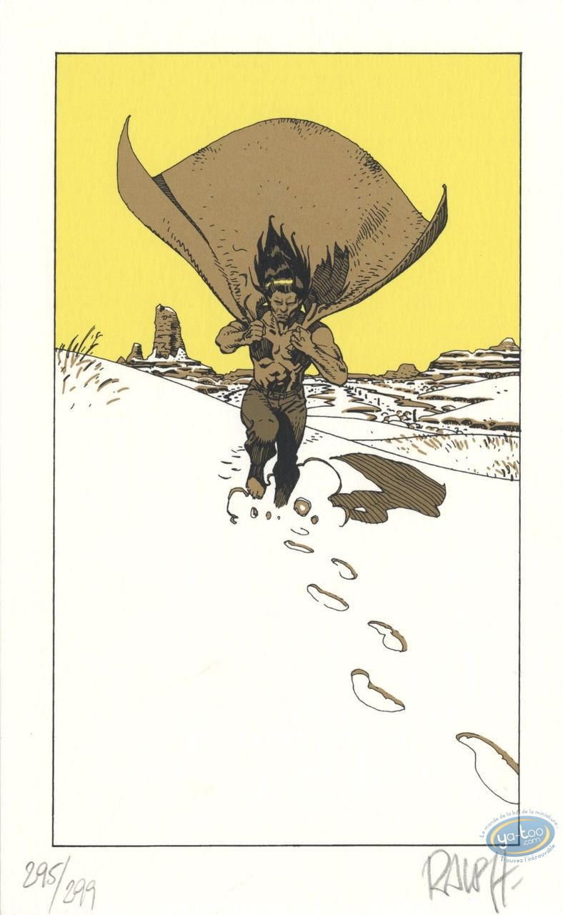 Bookplate Serigraph, Berceuse Assassine : Snow