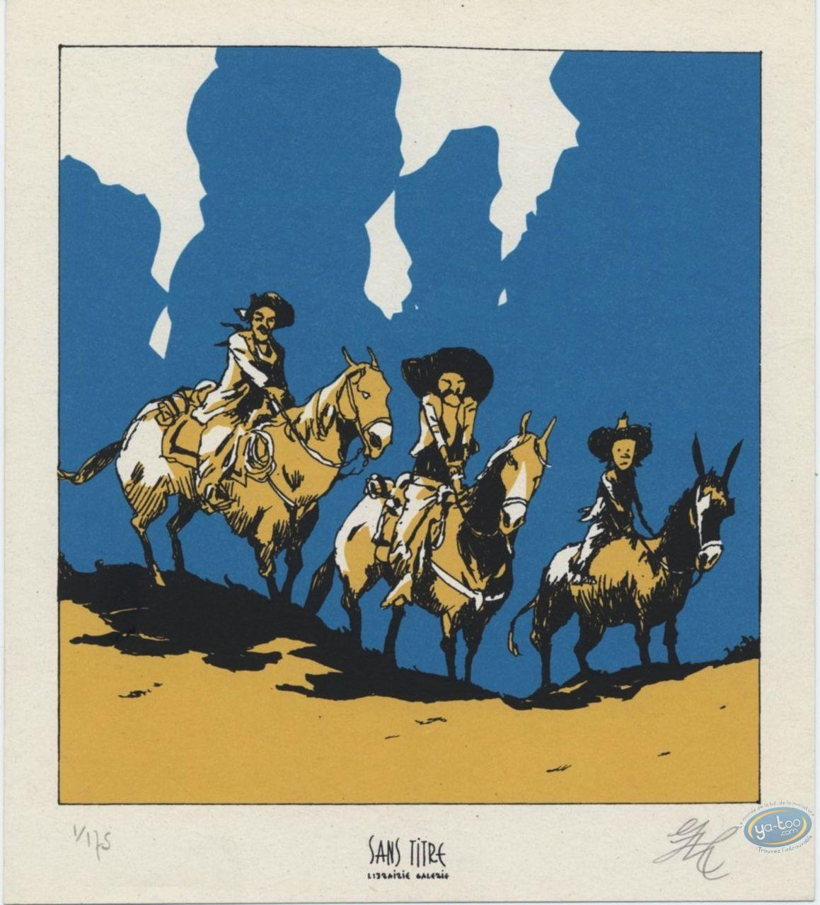 Bookplate Serigraph, Chiquito la Muerte : Mexicanos