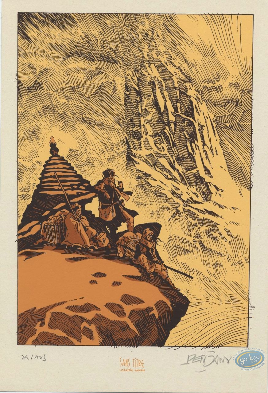 Bookplate Serigraph, Labyrinthes : Mountain