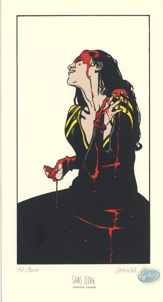 Bookplate Serigraph, Terres d'Ombre : Bloody Woman