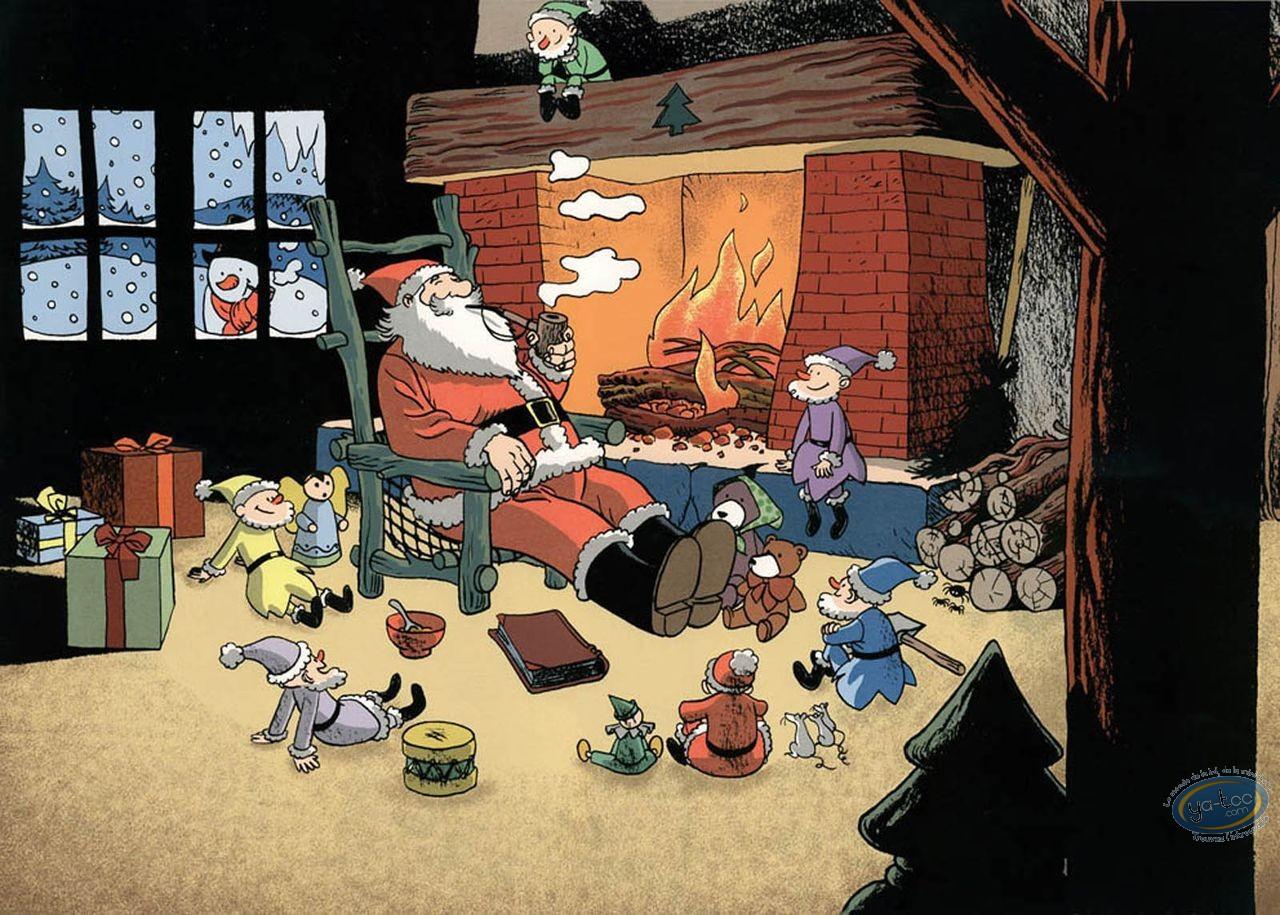 Serigraph Print, Catastrophes au Pays du Père Noël : Santa Claus