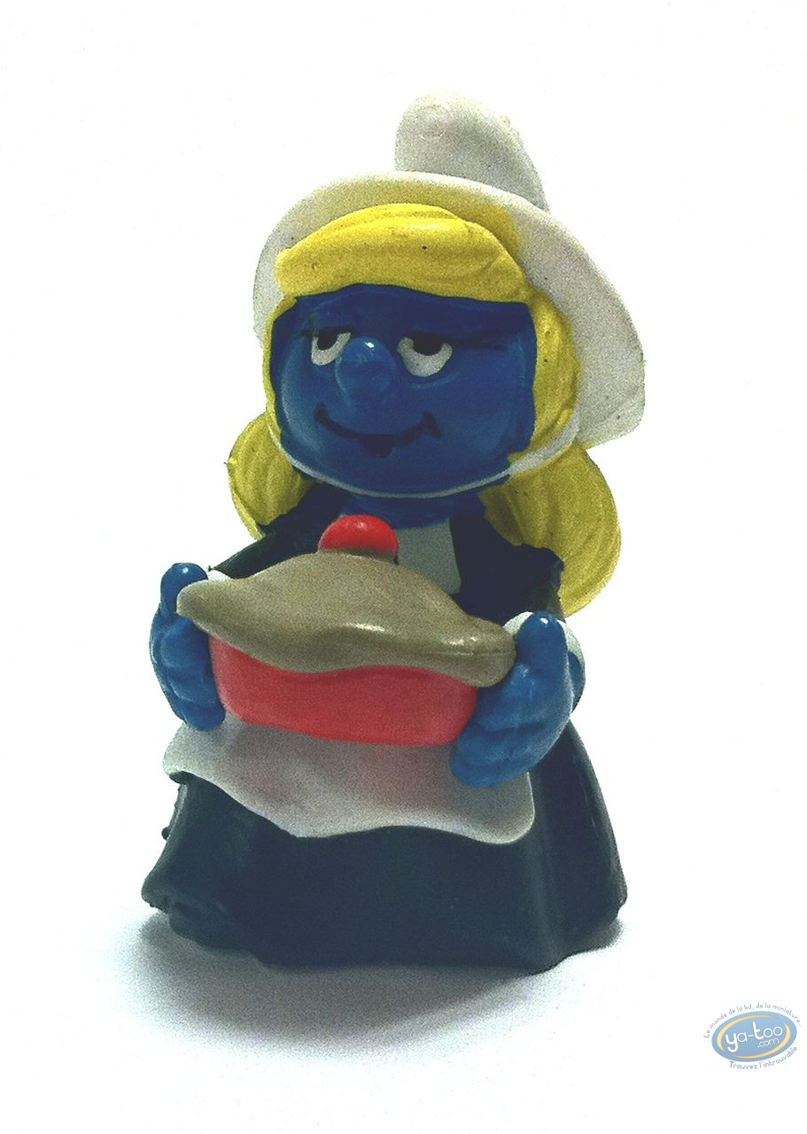 Plastic Figurine, Smurfs (The) : Smurfette with a pie