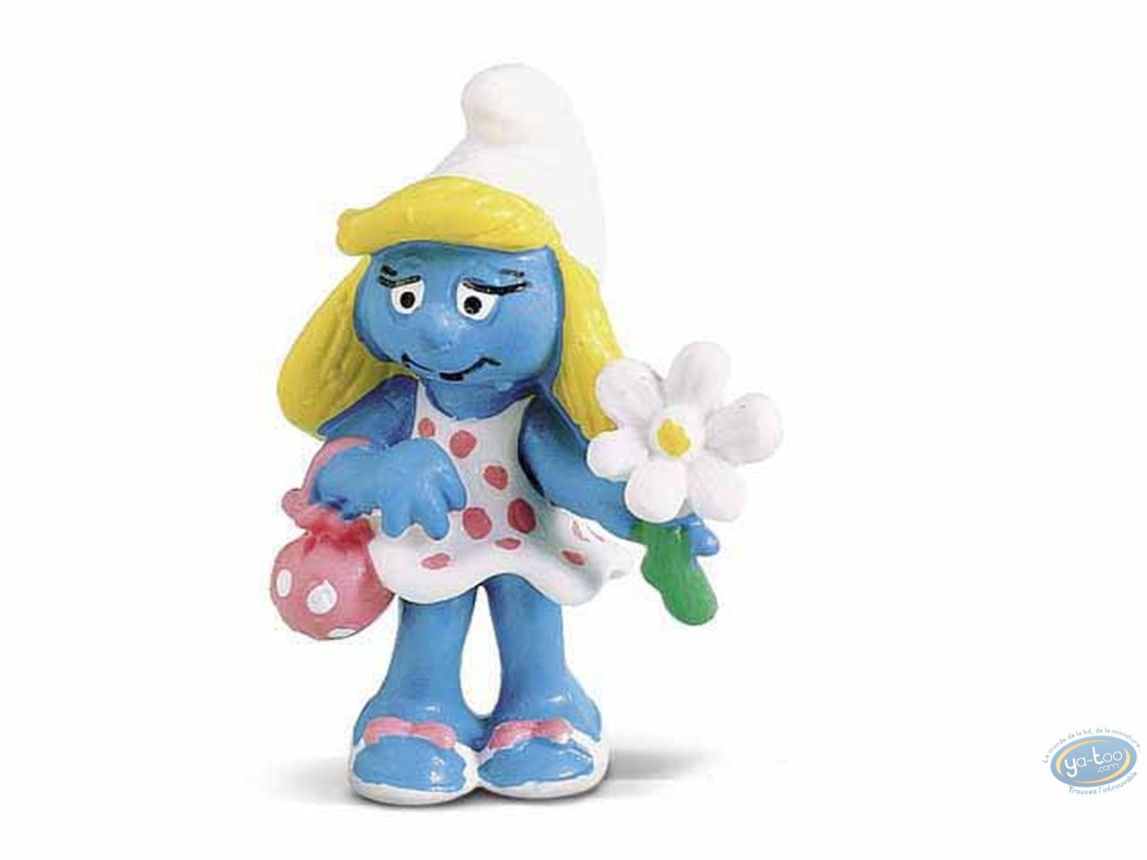 Plastic Figurine, Smurfs (The) : Smurfette with flower