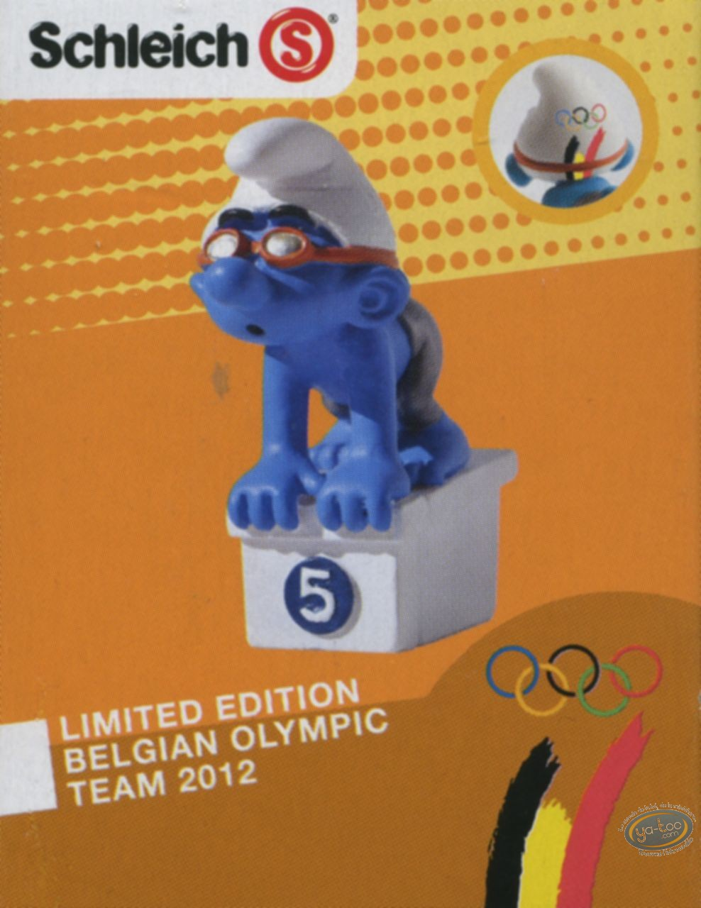 Plastic Figurine, Smurfs (The) : Smurf swimmer - Belgian Edition