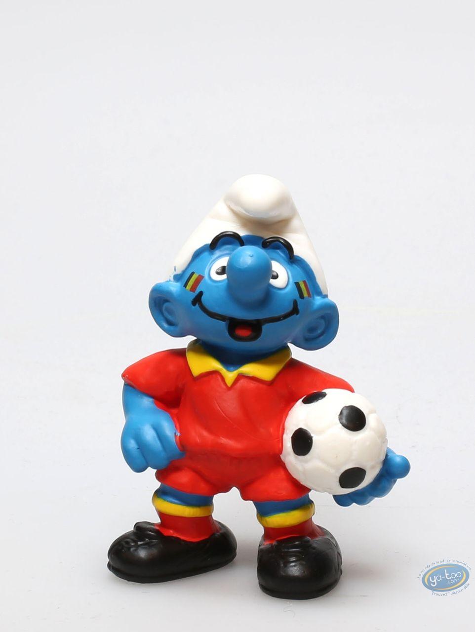 Plastic Figurine, Smurfs (The) : Smurf Belgian Supporter in red uniform- Worldcup 2014