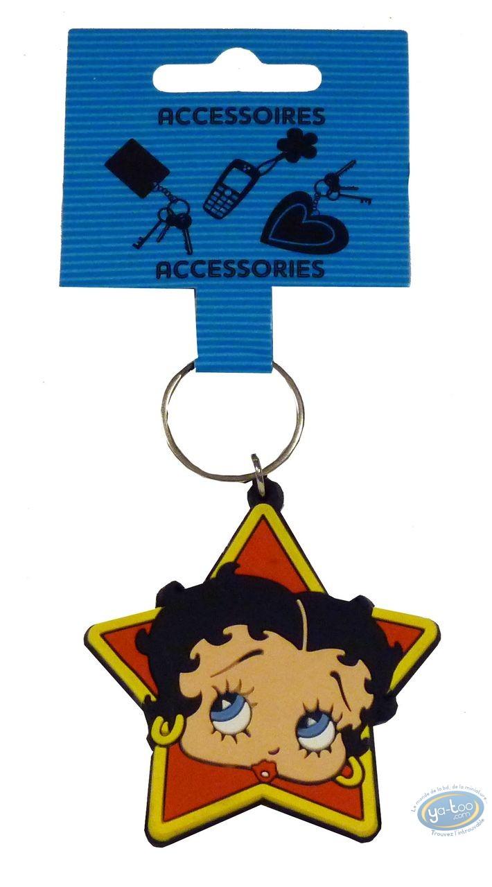 Keyring, Betty Boop : PVC key ring : Betty Boop 'Star'