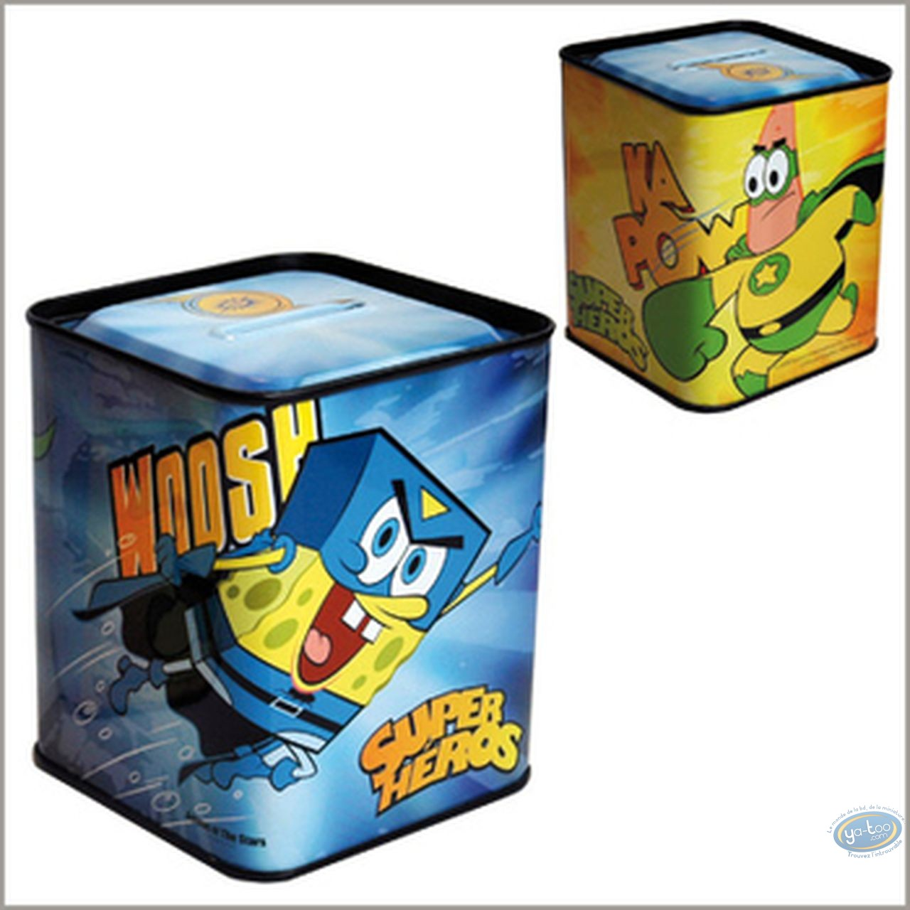 Piggy Bank, Sponge Bob : Piggy square : SpongeBob super hero
