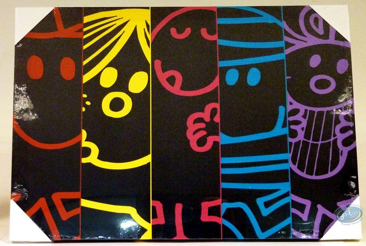 Deco,  Mr. Men and Little Miss : Under canvas, Mr Mrs 50X35