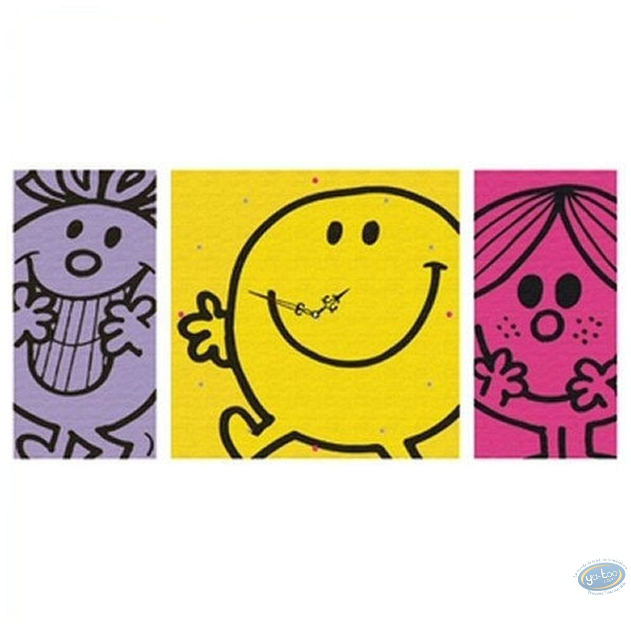 Clocks & Watches,  Mr. Men and Little Miss : Clock, Mr Happy