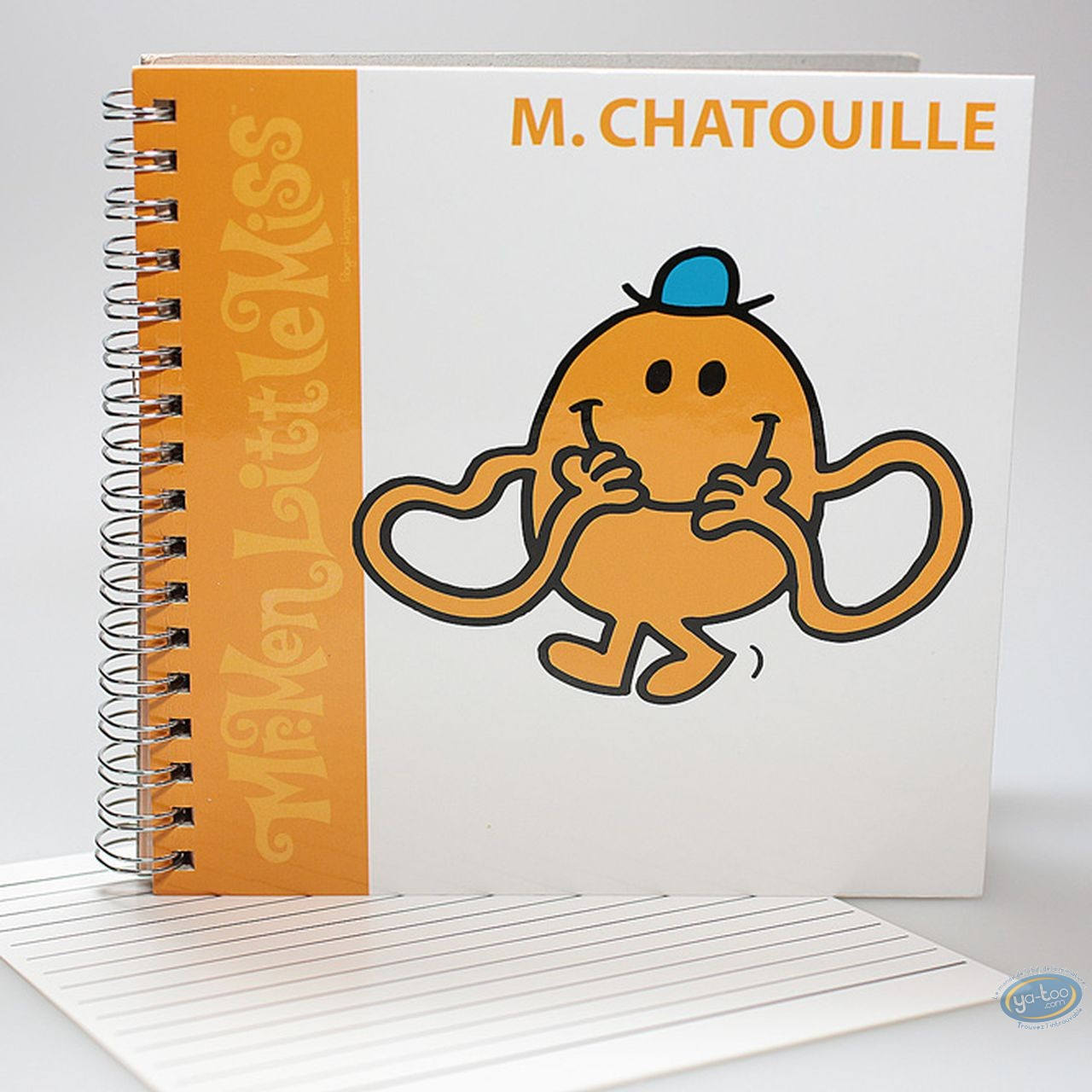Notebook,  Mr. Men and Little Miss : Spirals Carre book, Mr Tickle : Orange