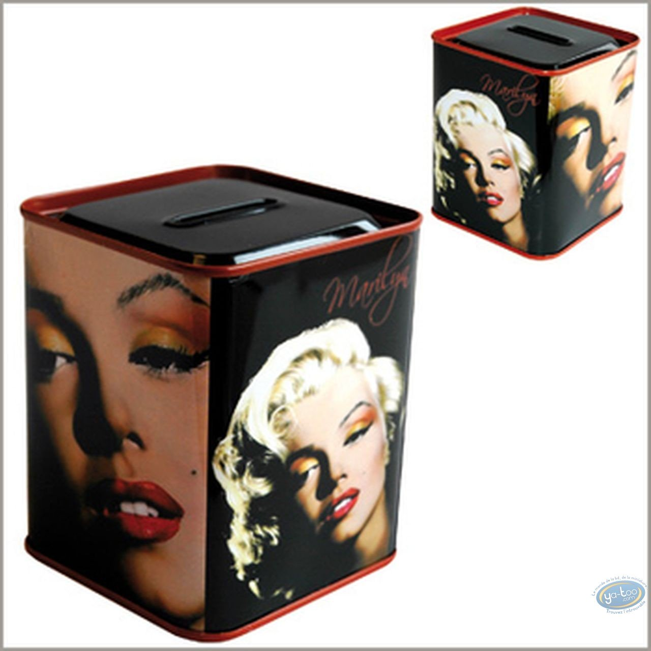 Piggy Bank, Marilyn Monroe : Square Moneybank, Marilyn Monroe