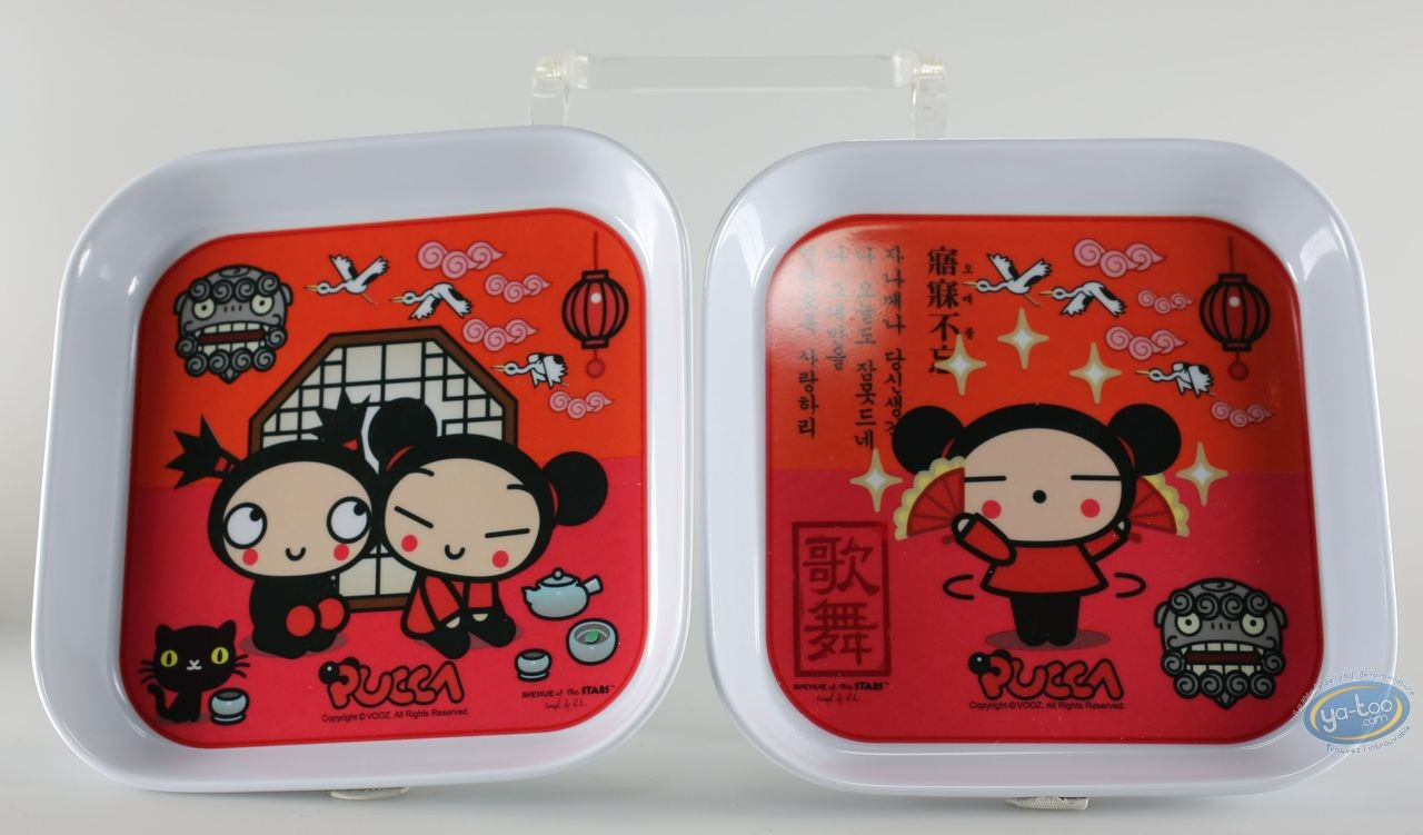 Tableware, Pucca : 2 melamine trays set Pucca