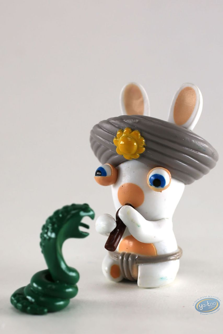 Plastic Figurine, Raving Rabbids : India (flute snake)